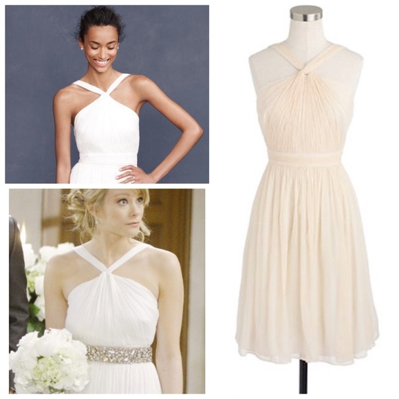 4c8ede15de76 J. Crew Dresses | Jcrew Short Ivory Sinclair Silk Chiffon Dress ...